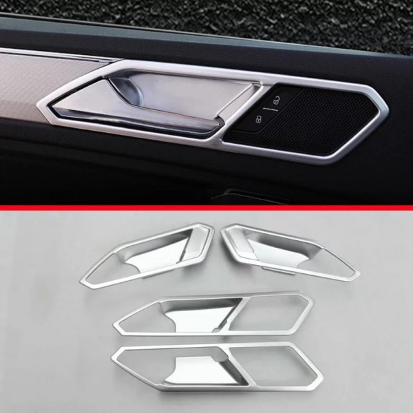 Türgriff Schalen Lautsprecher Rahmen Blende in Silber Matt Passend Für VW Tiguan 2 AD1