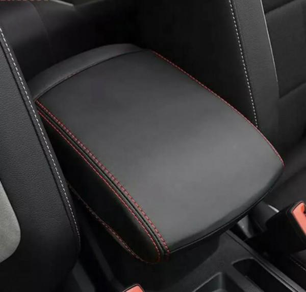 Armlehne Überzug Abdeckung Kunst Leder Roten Faden Passend Für VW T-Roc