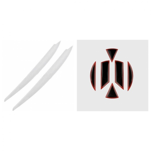 Böser-blick Scheinwerfer Blende Emblem Flex Coating Vorne & Hinten Schwarz Passend Für VW Golf 7 MK7 Weiß