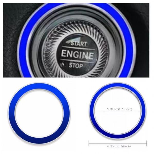 Aluminium Zündung Ringe Blau Rahmen Passend Für Mercedes Benz E W213 S213