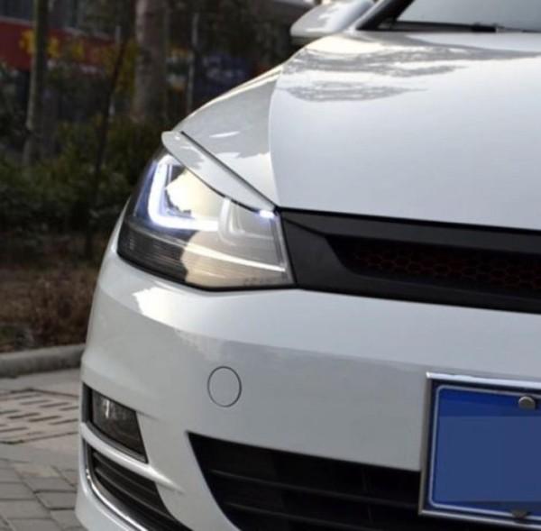 Böser Blick Scheinwerfer Blende Passend Für VW Golf 7 MK7 GTI GTD R Club Sport Weiß