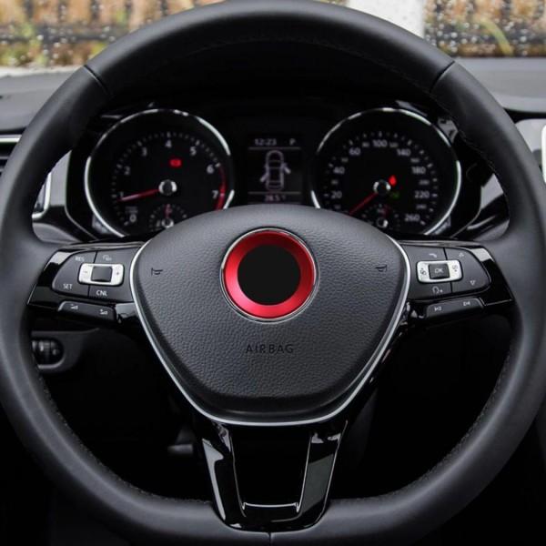 Emblem Logo Rahmen Blende Passend Für VW Polo Golf Passat Tiguan Rot