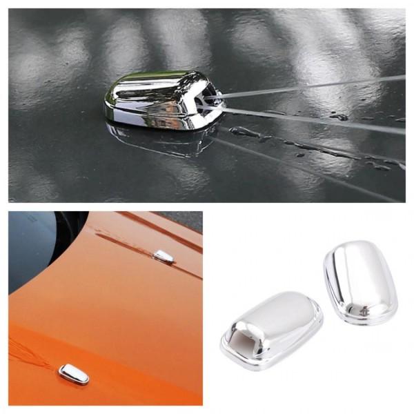 Chrome Wassersprühdüse Rahmen Abdeckung Passend Für Ford Focus 2 3 4 Fiesta Kuga Ecosport