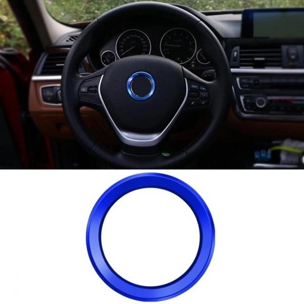 Lenkrad Emblem Rahmen 58 mm Passend Für Mercedes Benz A Klasse B Klasse GLA CLA in Blau