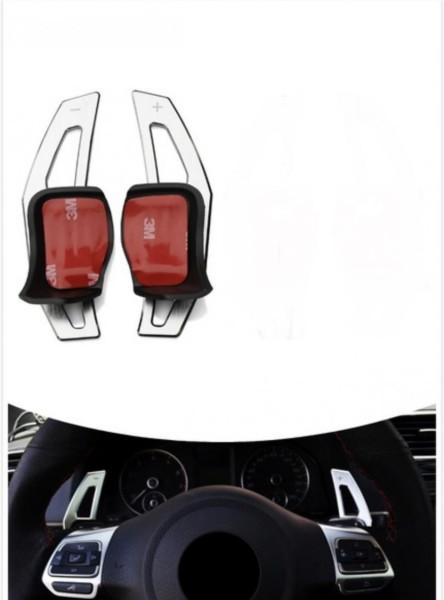 Schaltwippen Verlängerung Paddel Volkswagen Golf 6 Silber