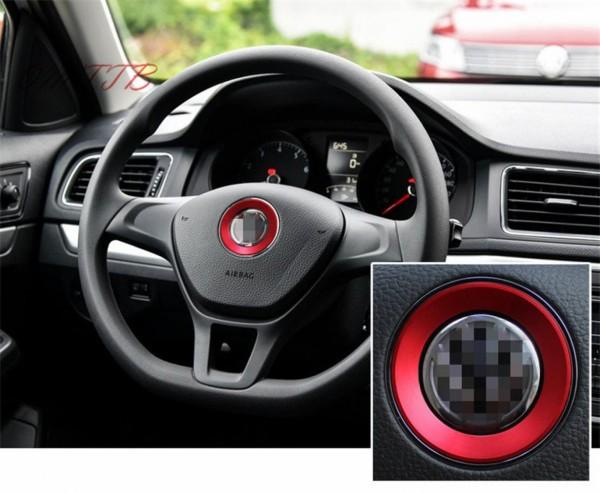 Lenkrad Emblem Ring Passend Für VW Golf 7 GTI GTD R Tiguan 2 AD1 in Rot