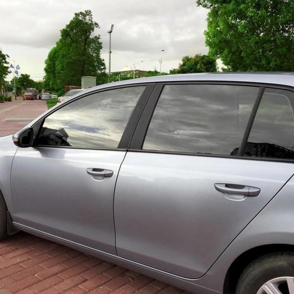 Set Carbon Folie A / B / C Säule Passend Für Golf 6 GTI GTD R TDI TSI Schwarz