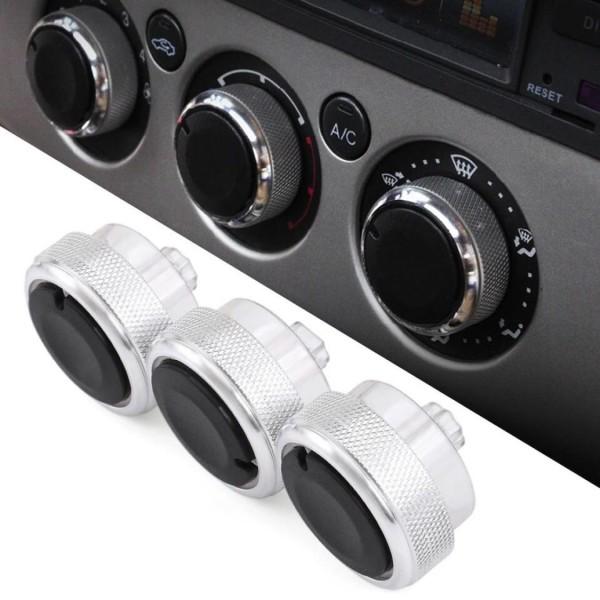 Klima Heizungsregler Drehknopf Passend Für Ford Focus MK2 MK3 in Silber