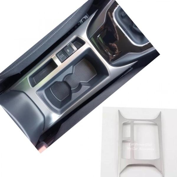 Edelstahl Mittelkonsole Becherhalter Blende Abdekung Rahmen Passend Für VW T-Roc TDI TSI