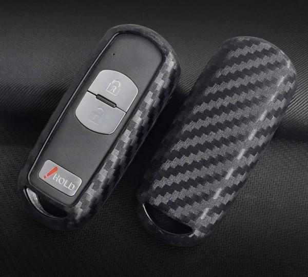 Schlüssel Gummi Cover Schlüsselhülle Carbon Optik Passend Für Mazda 3 6 Axela CX-3 CX-5 CX-7 CX-9 RX8