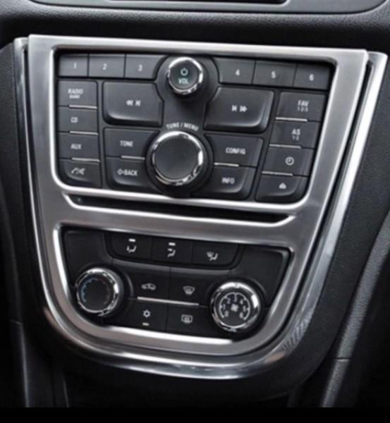 Mittelkonsole Radioblende Veredelung  Passend Für Opel Mokka Edelstahl Optik