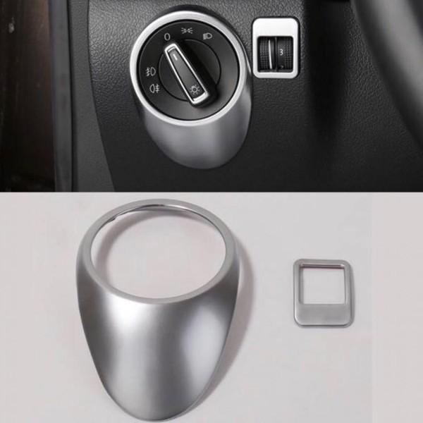 Lichtschalter Blende Abdeckung ABS Chrom Matt Passend Für VW Tiguan 1