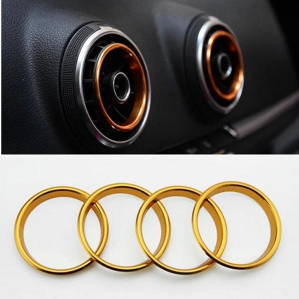 Ringe Lüftungsregler Gold Passend Für Audi A3 S3 RS3