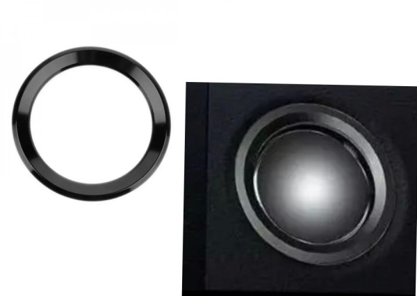 Lenkrad Emblem Rahmen 46 mm Innendurchmesser Schwarz Passend Für BMW