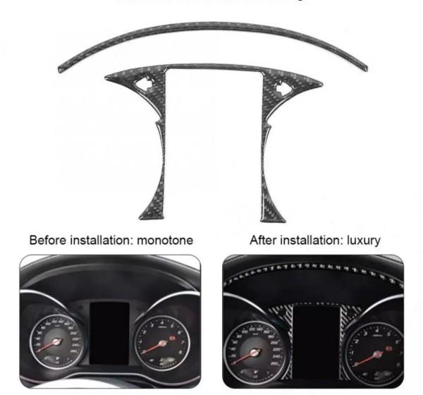 Flex Carbon Tacho Rahmen Blende Passend Für Mercedes Benz C Class GLC AMG