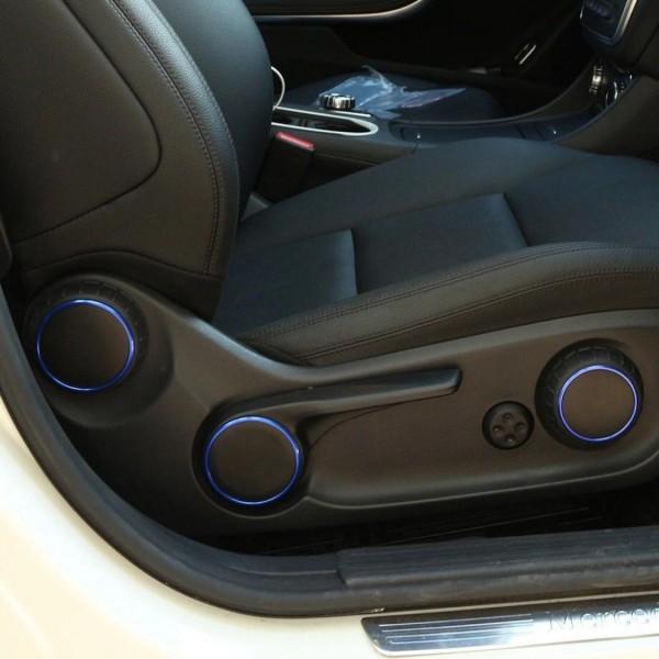 Sitzverstellung Ringe Rahmen Passend Für Mercedes Benz AMG A Klasse B Klasse GLA CLA Blau