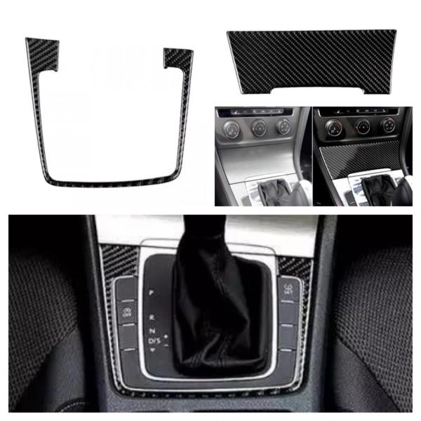 Schalttafel Aschenbecher Mittelkonsole Flex Carbon Blende Passend Für VW Golf 7 GTI GTD R Club Sport Sportvan