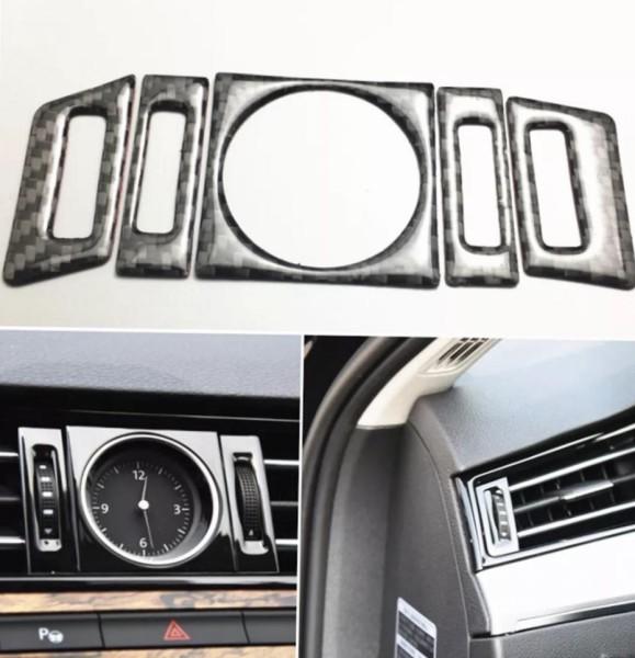 Luftdüsensteuerung Lüftungsregler Rahmen Blende in Carbon Flex Passend Für VW Passat B8