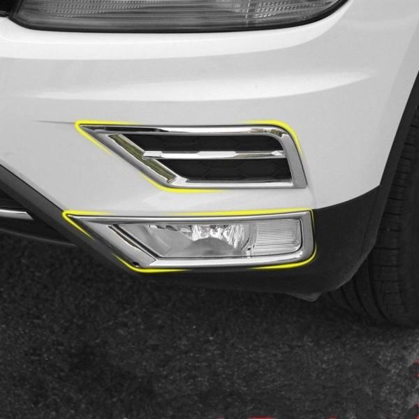 Lufteinlässe Nebelscheinwerfer Blende Rahmen Passend Für VW Tiguan 2 AD1