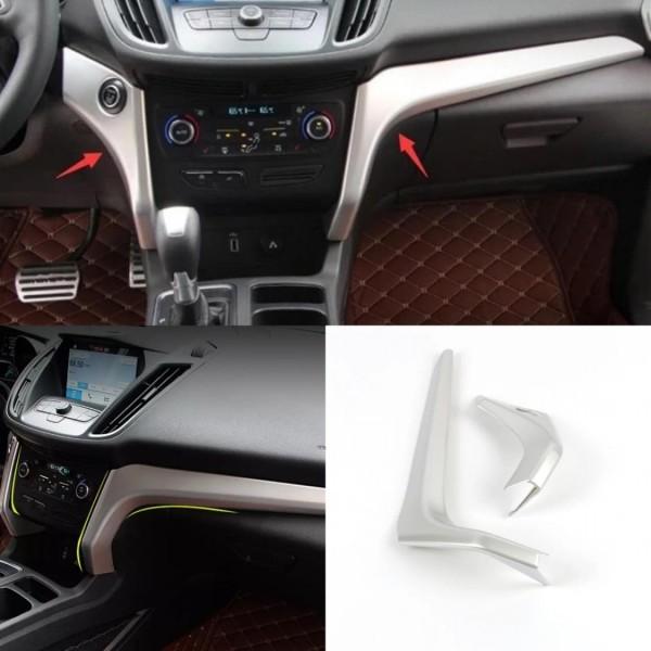 Mittelkonsole Blende Rahmen Abdeckung ABS Chrom Matt Passend Für Ford Kuga