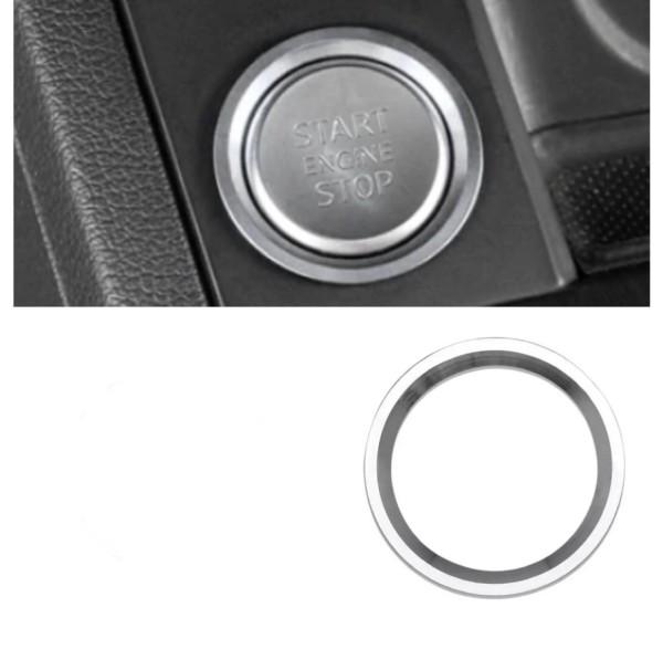 Start Stop Ring Abdeckung Alu Silber Passend Für VW Polo Golf 7 Tiguan 2 Passat B8 Arteon T-Roc T-Cross