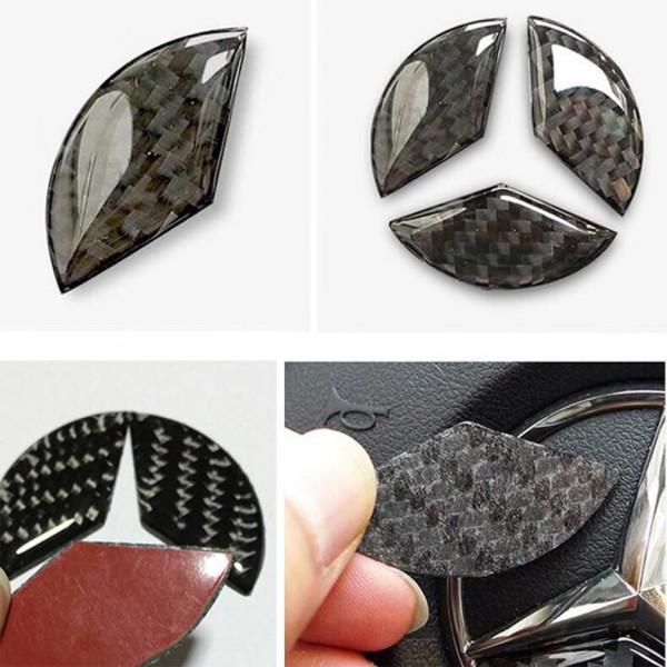 Lenkrad Logo Flex Carbon Abdeckung Blende Passend Für Mercedes Benz 49 mm