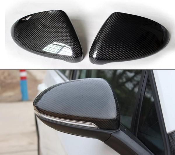 Spiegelkappen in Carbon Optik werden durch die Originalen ausgetauscht Passend Für VW Scirocco TDI TSI