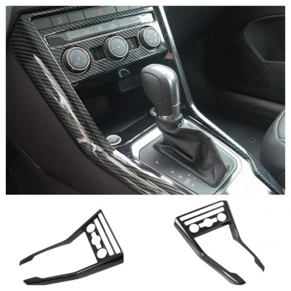 Mittelkonsole Klima Blende Abdeckung Rahmen Carbon Optik Passend Für VW T-Roc TDI TSI