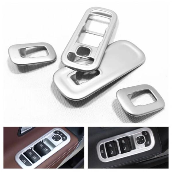 Chrom Matt Optik Fensterheber Rahmen Blende Abdeckung Passend Für Mercedes Benz A Klasse W177 V177 CLA W118 C118 X118