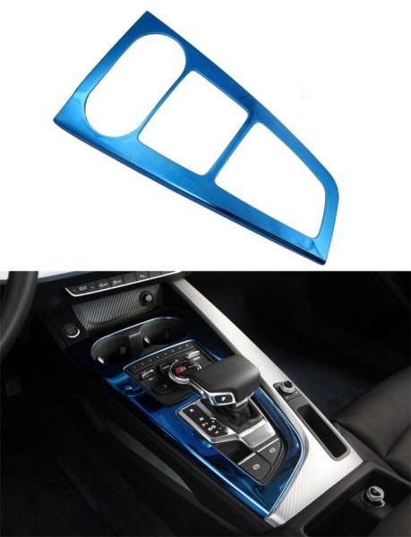Mittelkonsole Schalttafel Automatikgetriebe Blende Rahmen Passend Für Audi A4 B9 Edelstahl in Blau