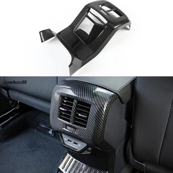 Luftdüsen Lüftung Hinten Konsole Mitte Rahmen Blende Abdeckung Carbon Optik Passend Für VW T-Roc