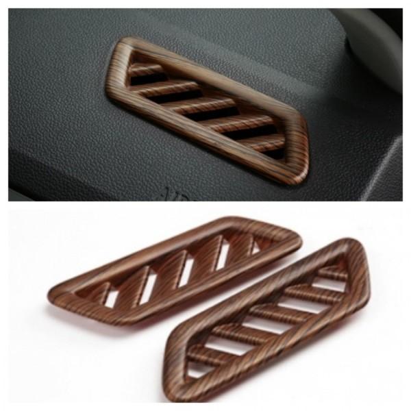 Lüftung Rahmen Blende Abdeckung Holz Optik Passend Für VW T-Roc TDI TSI