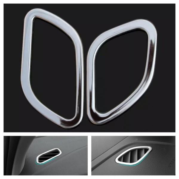 Luftdüsen Lüftungsrahmen Blende Abdeckung Edelstahl Passend Für VW Polo Ab Bj.2011-2016