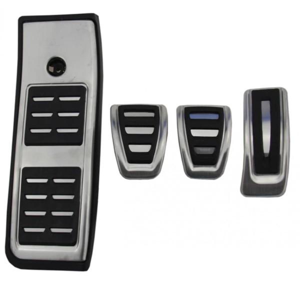 Pedale Pedalkappen aus Edelstahl Passend Für Audi A4 B9 A5 S5 Q5 80A TDI TSI Sline Schaltgetriebe