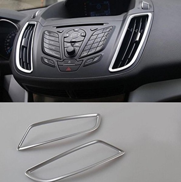 Lüftungsabdeckung Rahmen Passend Für Ford Kuga ABS Kunststoff Verchromt