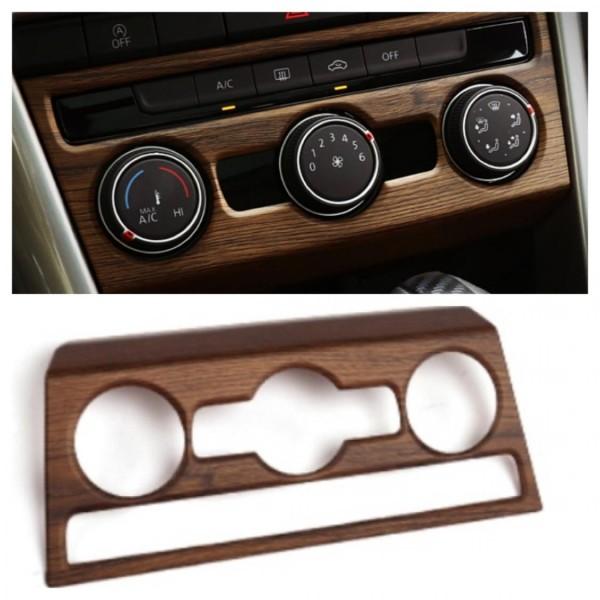 Klima Regler Heizung Rahmen Blende Abdeckung Holz Optik Passend Für VW T-Roc TDI TSI
