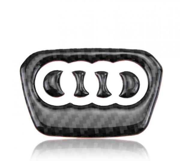 Lenkrad Logo Mittelring Blende Flex Carbon Optik Passend Für Audi A4 B9 A5 F53 F57 F5A A7 4KA Q5 FY Q7 4M