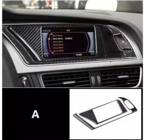 Radio Navi Rahmen Flex Carbon Abdeckung Passend Für Audi A4 B8 S4 RS4 A5 S5 RS5