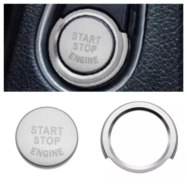 Start Stop Ring mit Druckknopf in Silber Passend für BMW 1er 2er 3er 4er 5er 6er 7er X1 X3 X4 X5 X6 GT
