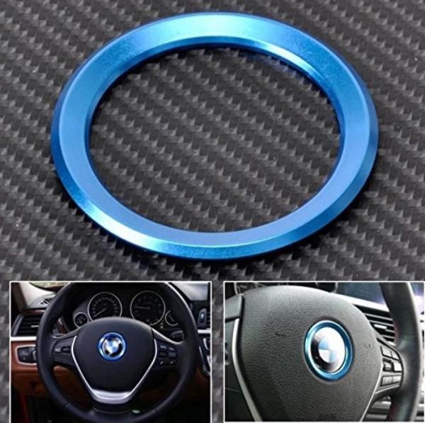 Lenkrad Emblem Rahmen 46 mm Innendurchmesser Blau Passend Für BMW