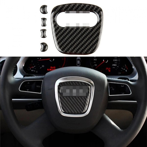 Lenkrad Logo Mittelring Blende Flex Carbon Optik Passend Für Audi A1 A3 A4 A5 A6 A7 Q2 Q3 Q5 Q7