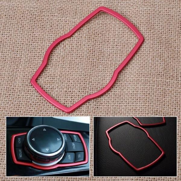 Mittelkonsole Multimedia Steuerung Rahmen Passend Für BMW 1er - 7er Rot