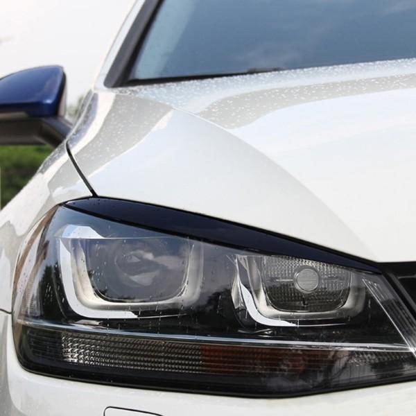 Böser Blick Scheinwerfer Blende Passend Für VW Golf 7 MK7 GTI GTD R Club Sport Schwarz