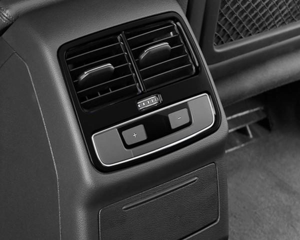 Mittelkonsole Hinden Lüftungsabdeckung Blende Passend Für Audi A4 S4 RS4 B9 in Edelstahl Schwarz