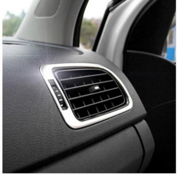Luftdüse Lüftung Rahmen Edelstahl Passend Für VW Polo 6R GTI TSI TDI