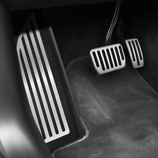 Pedale Pedalkappen Fußstütze aus Edelstahl Passend Für Tesla Model 3
