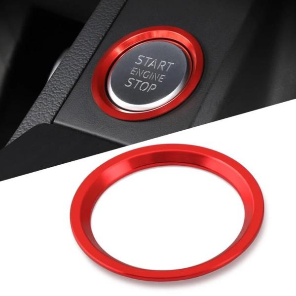 Start Stop Ring Abdeckung Alu Rot Passend Für Audi A4 B9 A5 F53 A6 C7 Q7 A7 A8