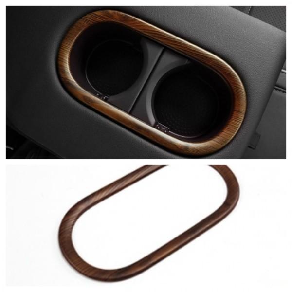 Hintere Becherhalter Rahmen Blende Abdeckung Holz Optik Passend Für VW T-Roc TDI TSI