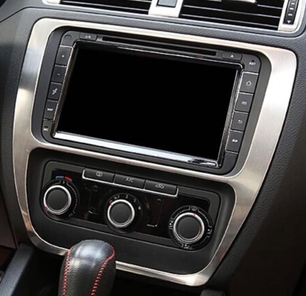 Mittelkonsole Radioblende Passend Für VW Jetta MK6 Edelstahl