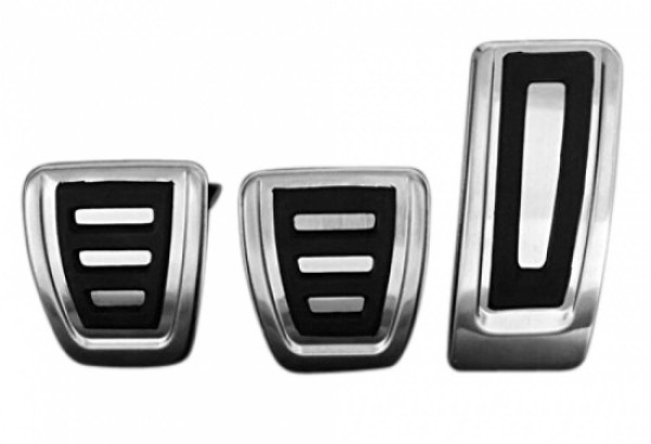 Pedale Pedalkappen aus Edelstahl Passend Für Audi A4 B8 S4 A5 S5 Q5 SQ5 für Schaltgetriebe
